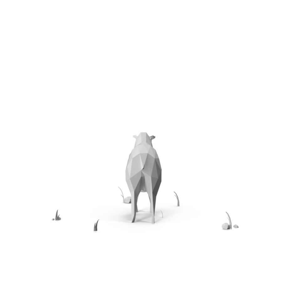 Animaux de Ferme Low Poly / Moutons royalty-free 3d model - Preview no. 6