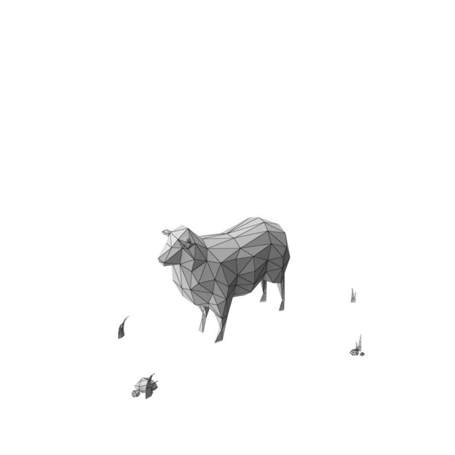 Animaux de Ferme Low Poly / Moutons royalty-free 3d model - Preview no. 8