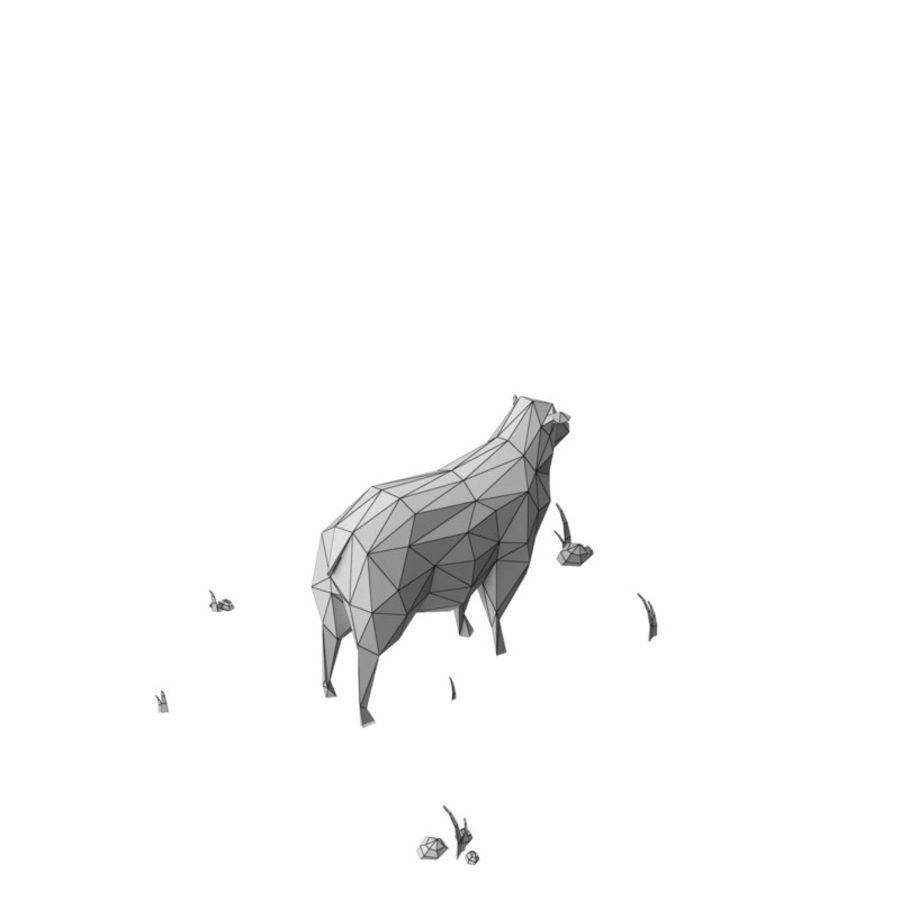 Animaux de Ferme Low Poly / Moutons royalty-free 3d model - Preview no. 9
