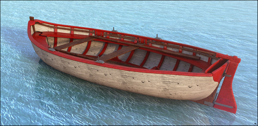 Fisherman Old Boat royalty-free 3d model - Preview no. 2