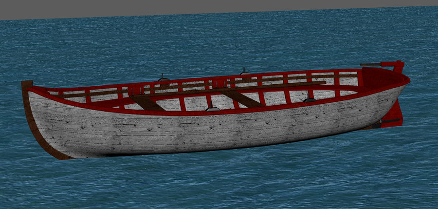 Fisherman Old Boat royalty-free 3d model - Preview no. 3