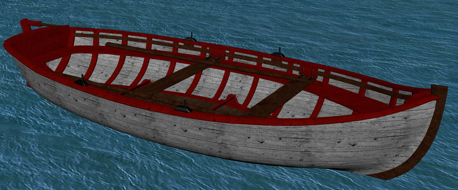 Fisherman Old Boat royalty-free 3d model - Preview no. 10