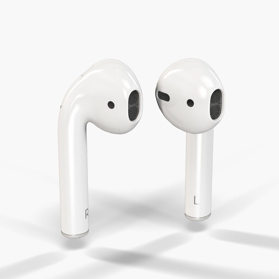 Apple AirPods wireless bluetooth earphones royalty-free 3d model - Preview no. 6