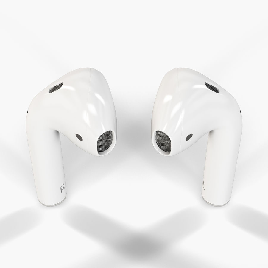 Apple AirPods wireless bluetooth earphones royalty-free 3d model - Preview no. 7