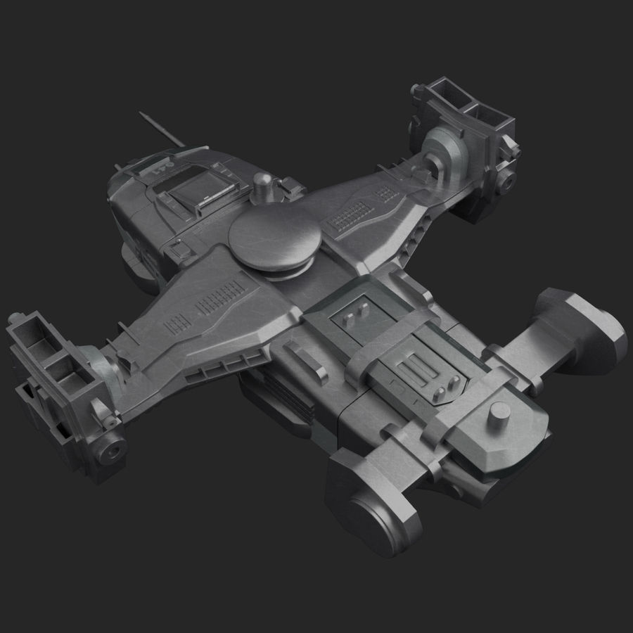 Space Ship royalty-free 3d model - Preview no. 6