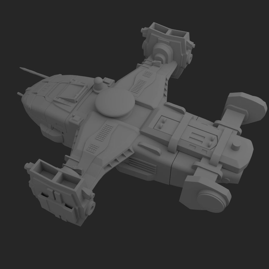 Space Ship royalty-free 3d model - Preview no. 7