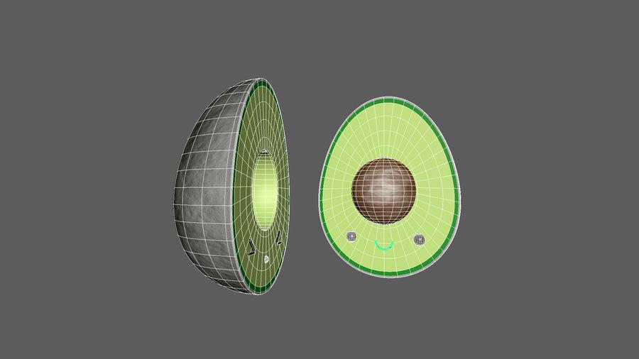 Avocado Toon Half royalty-free 3d model - Preview no. 5