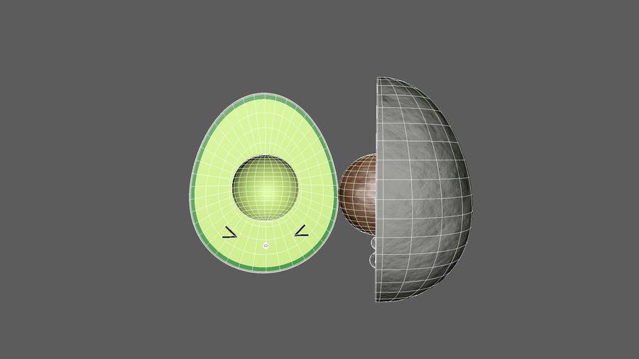 Avocado Toon Half royalty-free 3d model - Preview no. 6