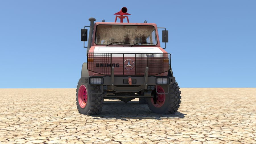 Fuego unimog royalty-free modelo 3d - Preview no. 6