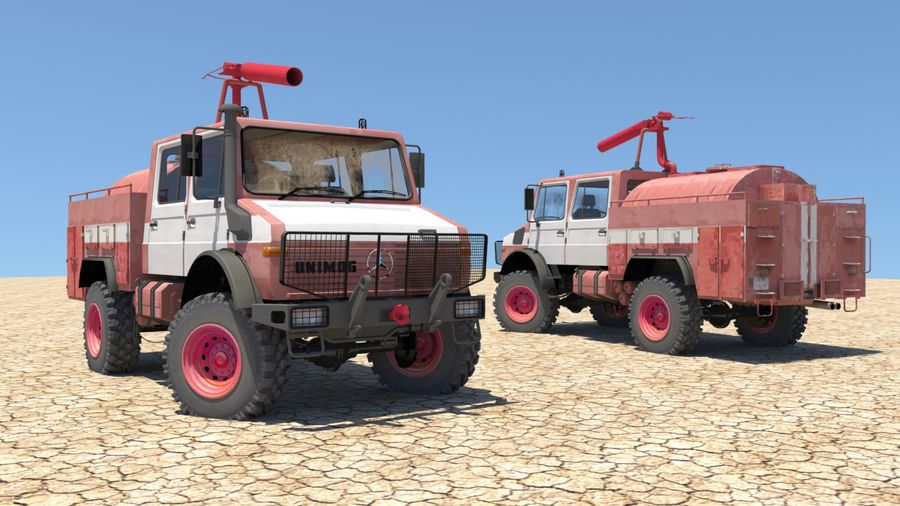 Fuego unimog royalty-free modelo 3d - Preview no. 1