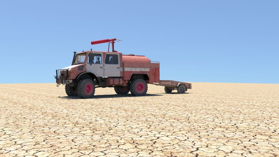 Fuego unimog royalty-free modelo 3d - Preview no. 4