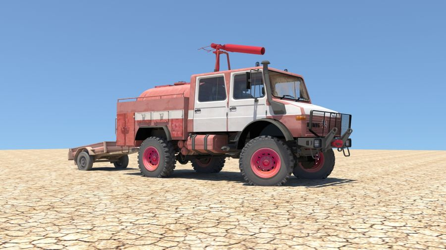 Fuego unimog royalty-free modelo 3d - Preview no. 3