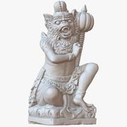 Escultura Bali Monkey Warrior 1M Escaneo Raw modelo 3d