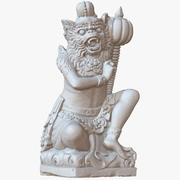 Sculpture Bali Monkey Warrior 1M Raw Scan 3d model