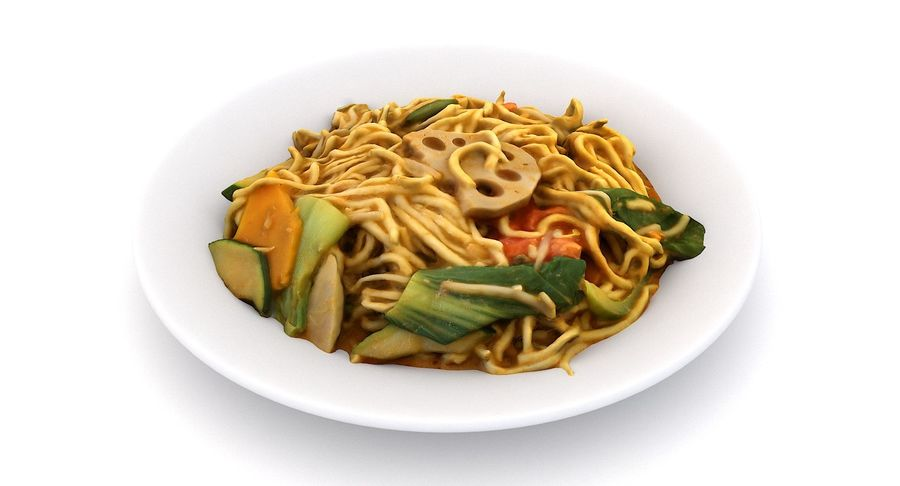 Asian Food royalty-free 3d model - Preview no. 13
