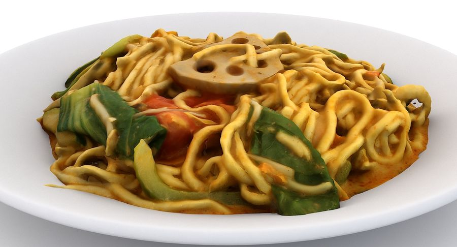Asian Food royalty-free 3d model - Preview no. 5