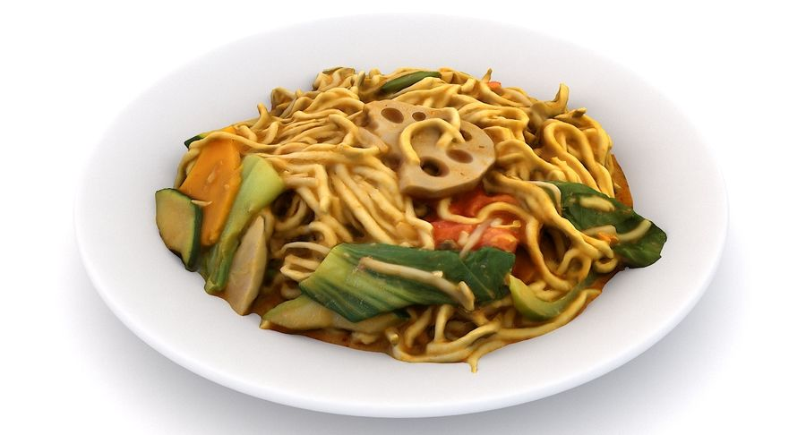 Asian Food royalty-free 3d model - Preview no. 7