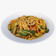 亚洲食品 3d model