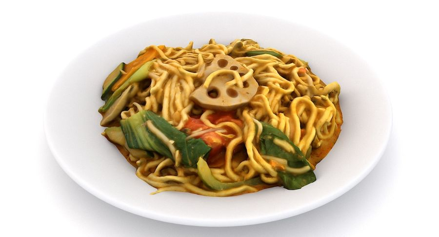 Asian Food royalty-free 3d model - Preview no. 11