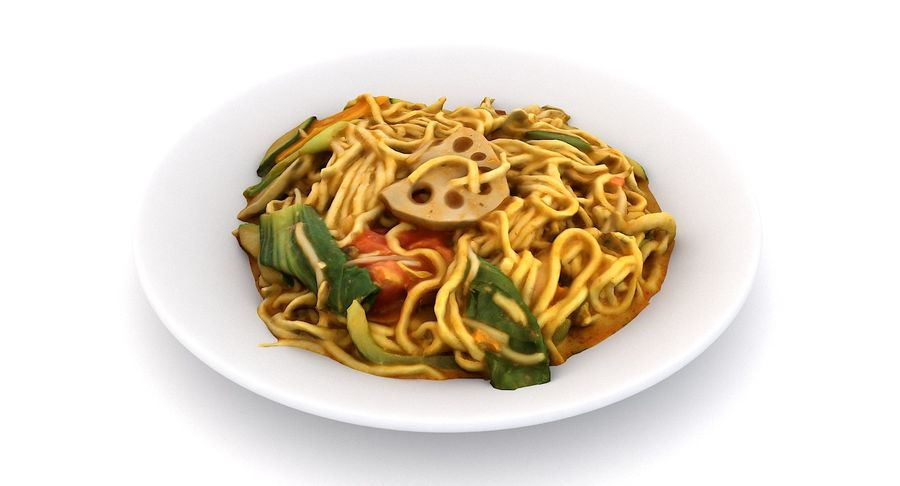 Asian Food royalty-free 3d model - Preview no. 15