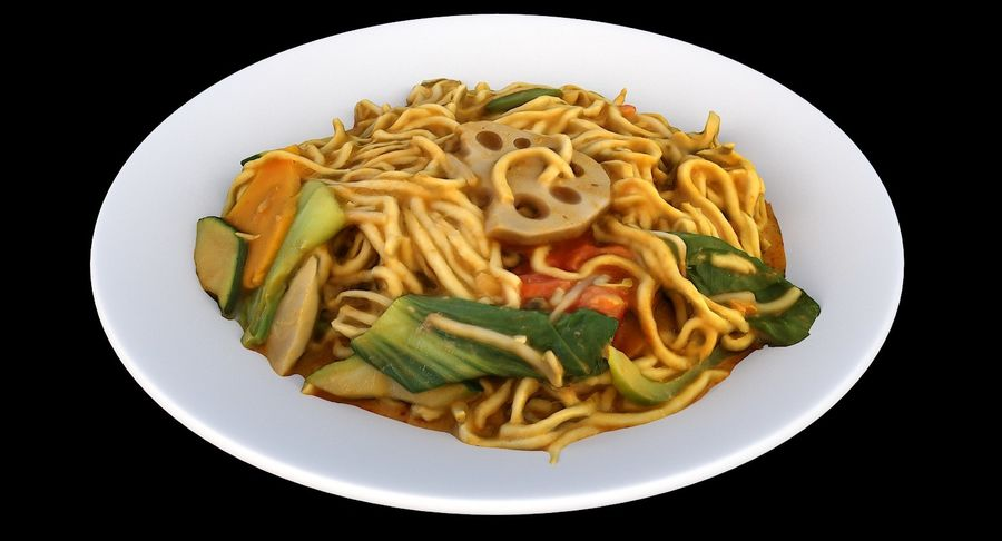 Asian Food royalty-free 3d model - Preview no. 2