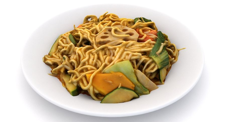 Asian Food royalty-free 3d model - Preview no. 9