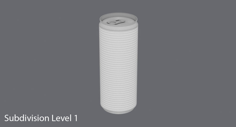 250ml Soda Can Mockup royalty-free 3d model - Preview no. 15
