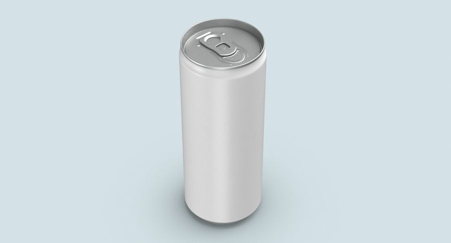 250ml Soda Can Mockup royalty-free 3d model - Preview no. 7