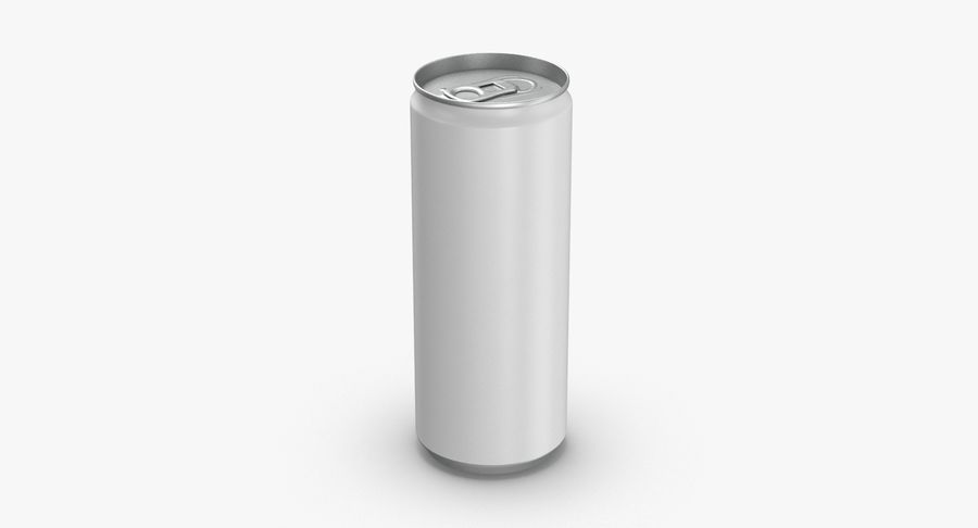 250ml Soda Can Mockup royalty-free 3d model - Preview no. 2