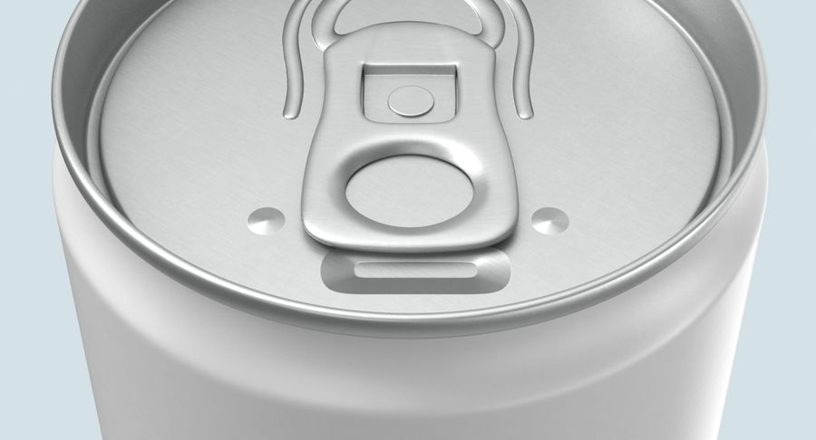 250ml Soda Can Mockup royalty-free 3d model - Preview no. 10