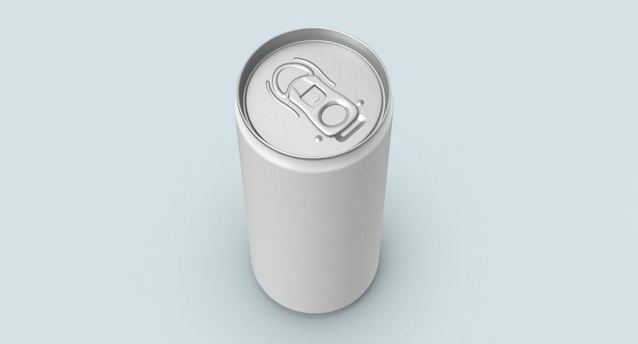 250ml Soda Can Mockup royalty-free 3d model - Preview no. 4