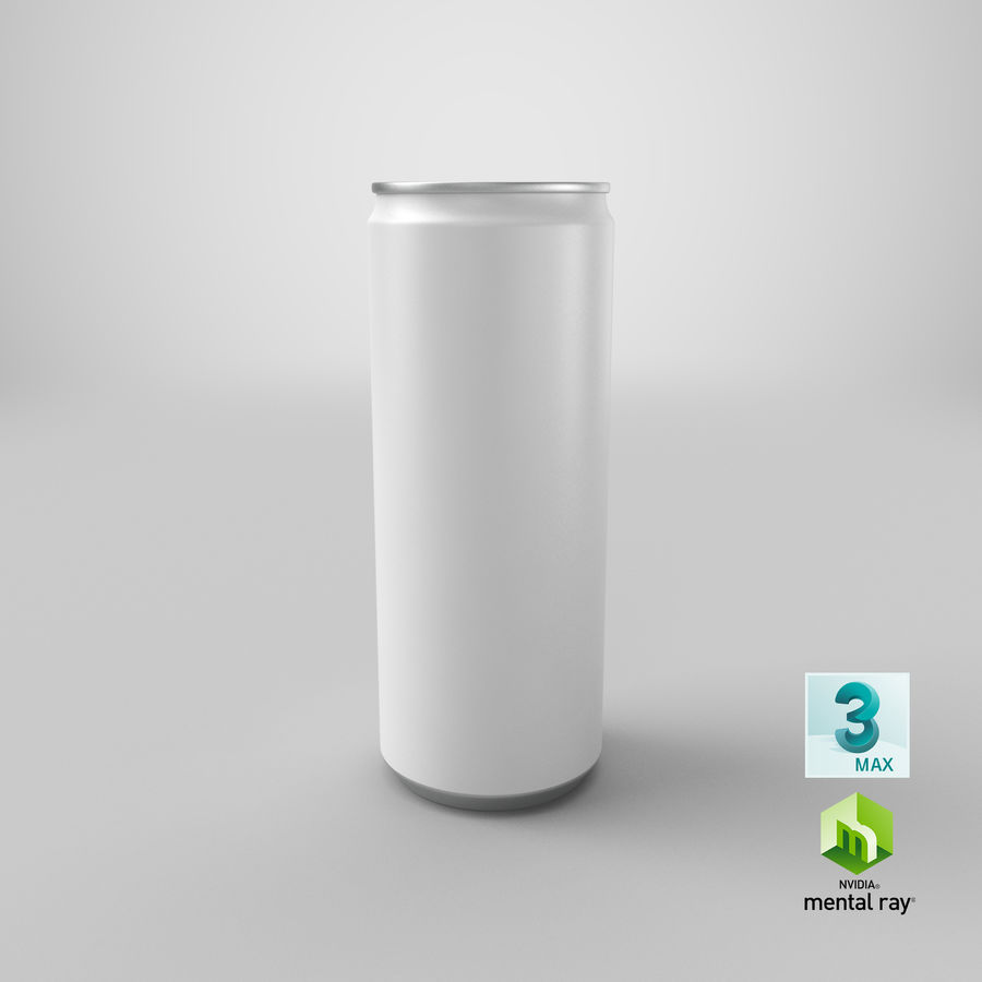 250ml Soda Can Mockup royalty-free 3d model - Preview no. 22