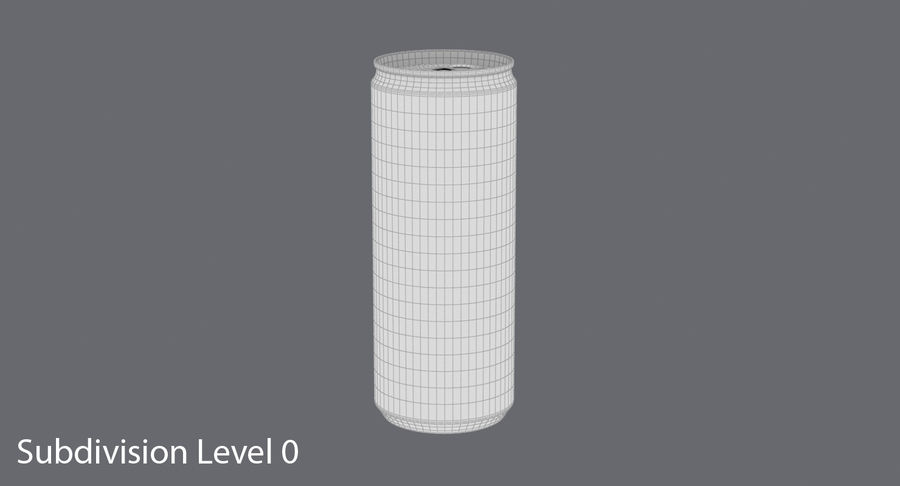 250ml Soda Can Mockup royalty-free 3d model - Preview no. 14