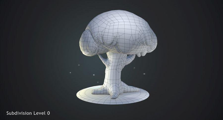 Roble de dibujos animados royalty-free modelo 3d - Preview no. 11