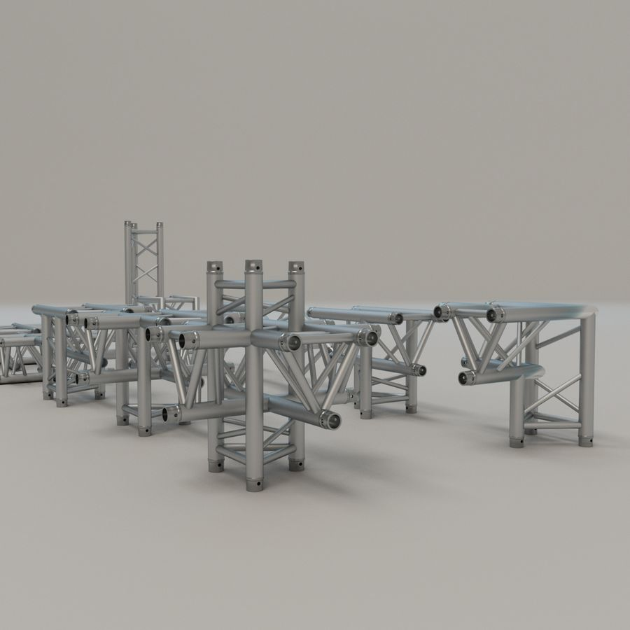 Triangular truss 30cm - corner set royalty-free 3d model - Preview no. 5