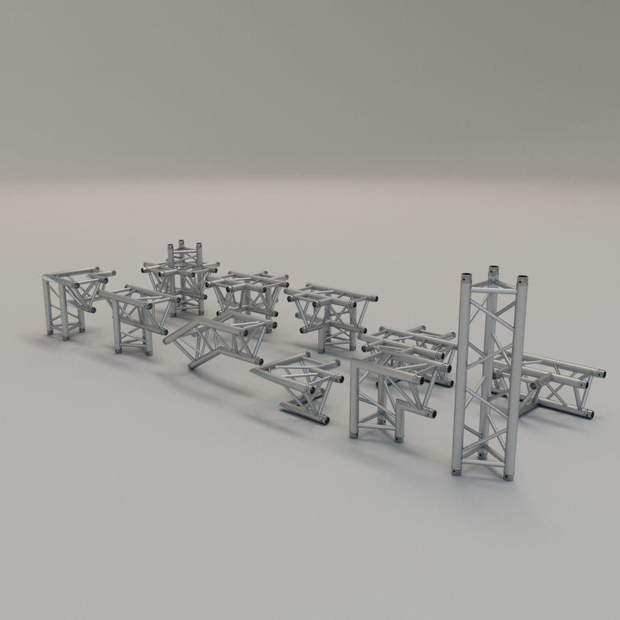 Triangular truss 30cm - corner set royalty-free 3d model - Preview no. 2