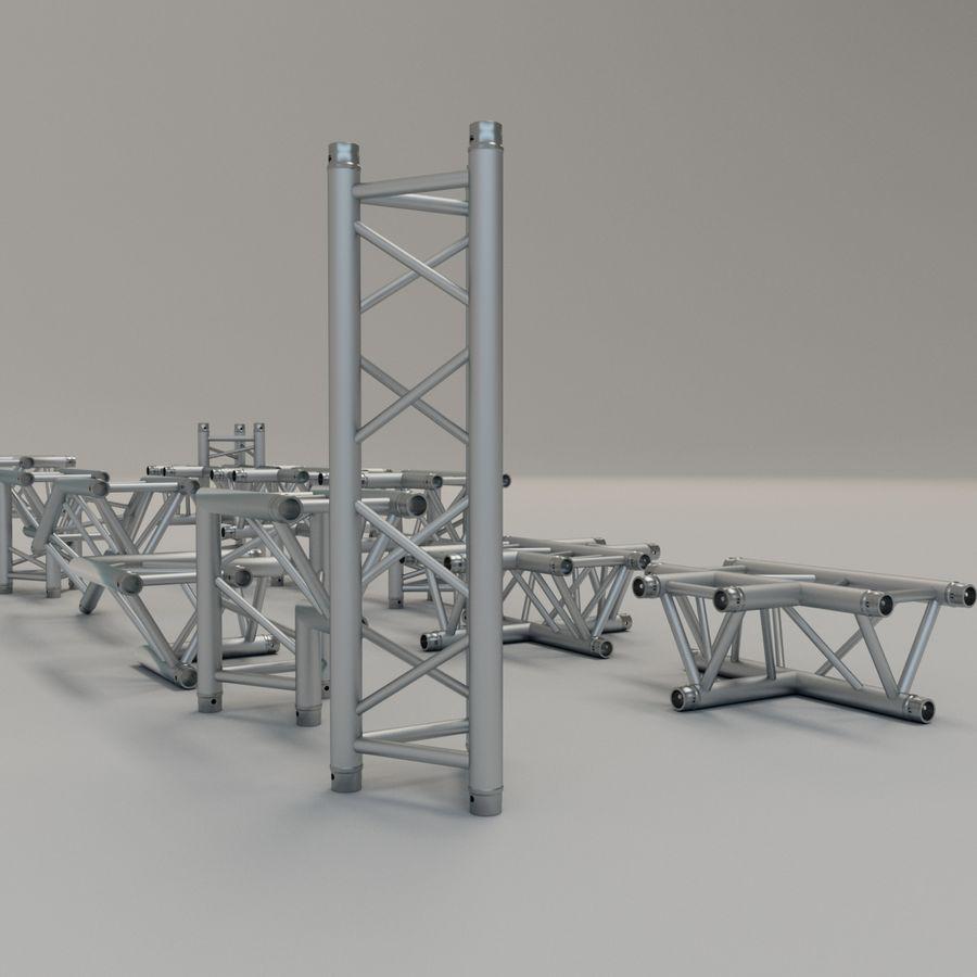 Triangular truss 30cm - corner set royalty-free 3d model - Preview no. 4