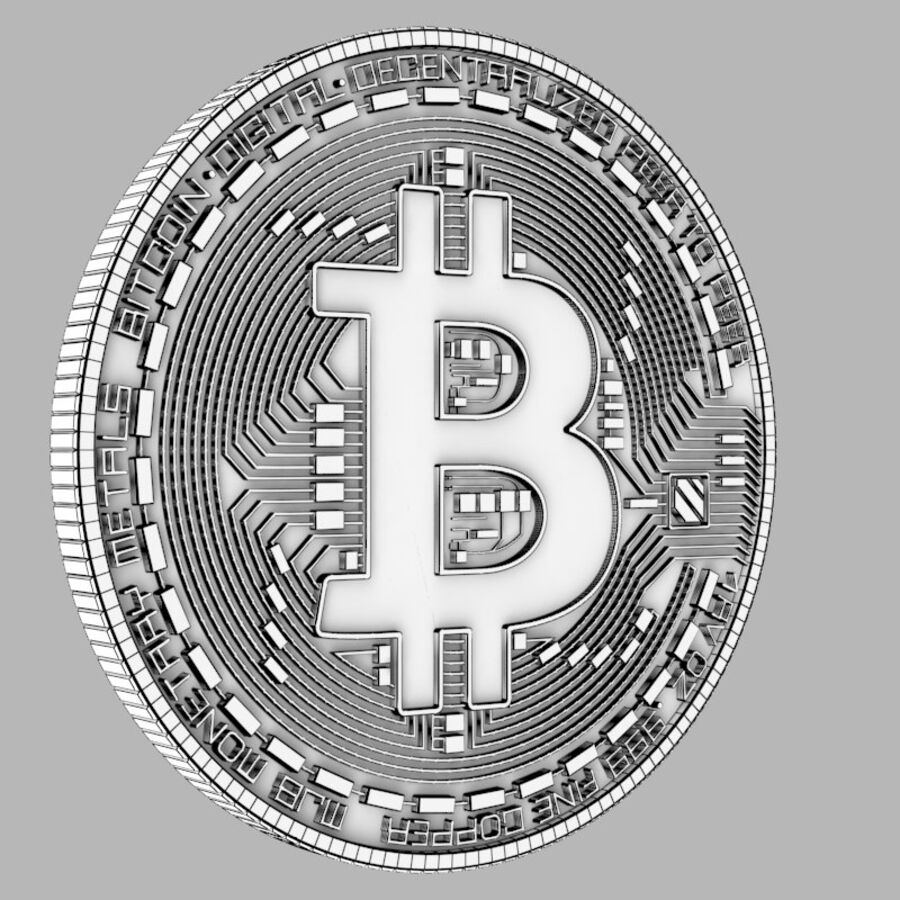 Bitcoin royalty-free 3d model - Preview no. 4