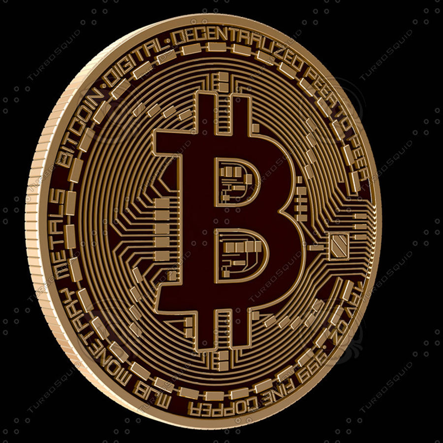 Bitcoin royalty-free 3d model - Preview no. 1