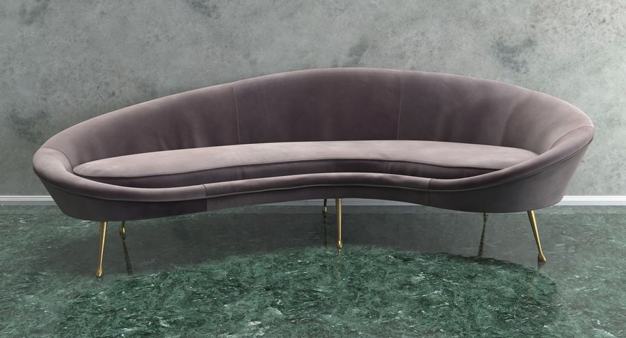 Ico Parisi Sofa 1950s Style Velvet 3D Model $39 -  max  obj  ma  fbx