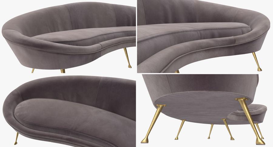Ico Parisi Sofa 1950s Style Velvet 3d Model 39 Max