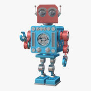 Retro Robot Toy 3d model