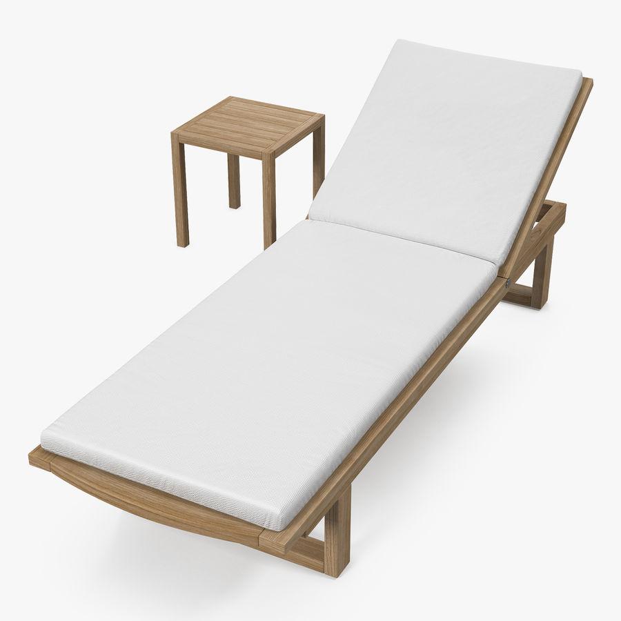 Chaise Longue De Jardin En Bois Avec Table Modèle 3d 29 C4d Ma