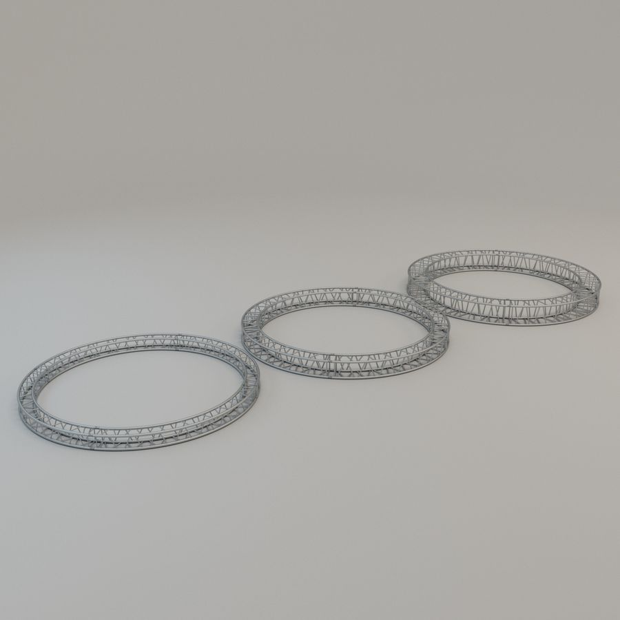 Square Circular Truss Set R200 royalty-free 3d model - Preview no. 1