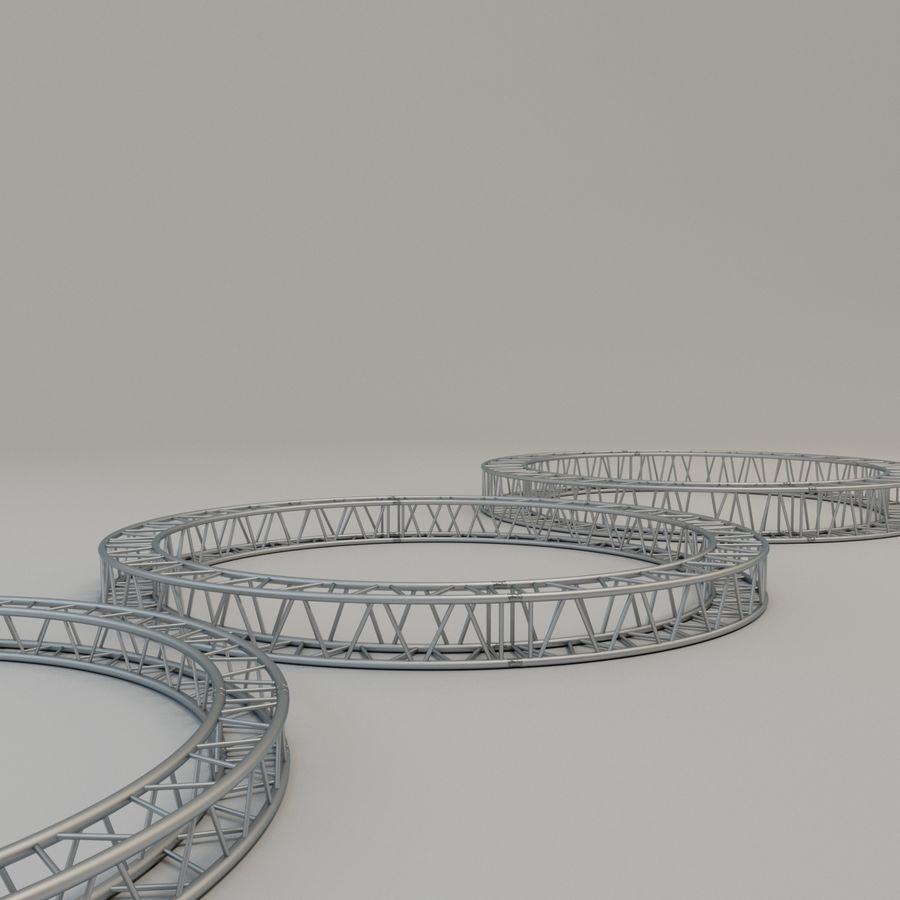 Square Circular Truss Set R200 royalty-free 3d model - Preview no. 5