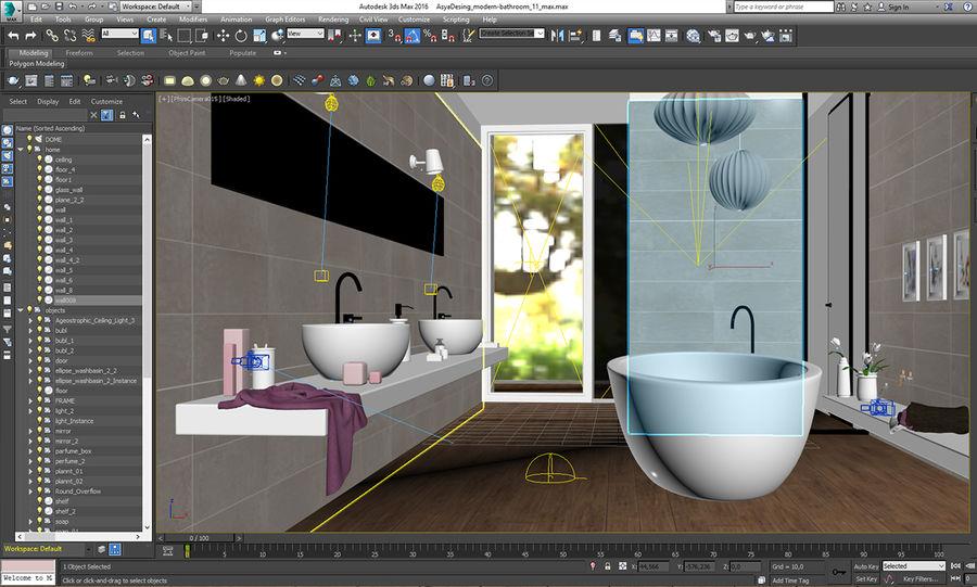 バスルームシーン1 royalty-free 3d model - Preview no. 10