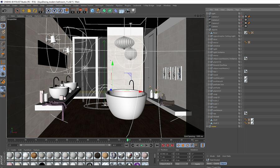 バスルームシーン1 royalty-free 3d model - Preview no. 11