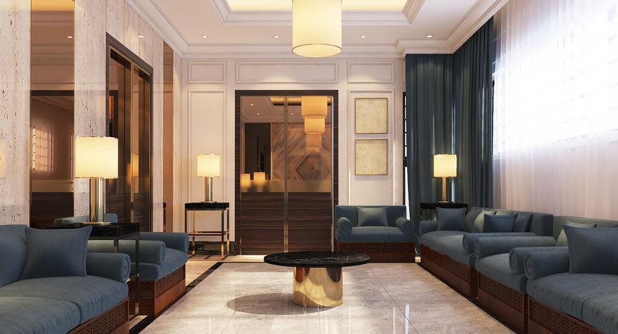 Espace salon contemporain modèle 3D $39 - .max - Free3D