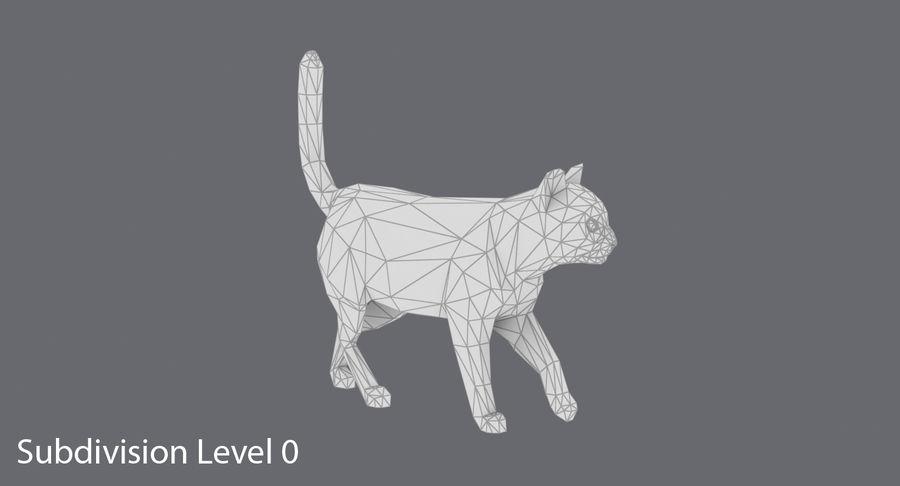 Chodzący Kot royalty-free 3d model - Preview no. 12