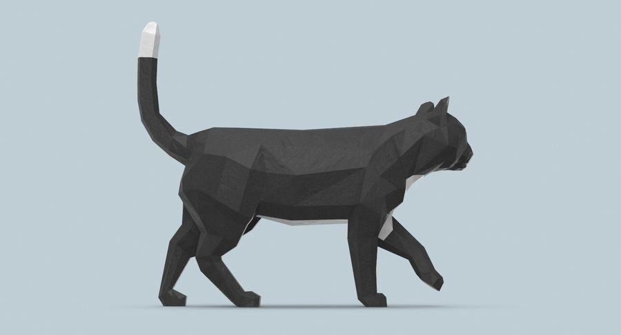 Chodzący Kot royalty-free 3d model - Preview no. 7